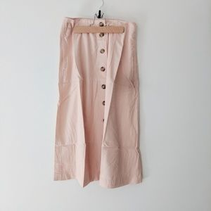 NWT Madewell Patio Button-Front Midi Skirt